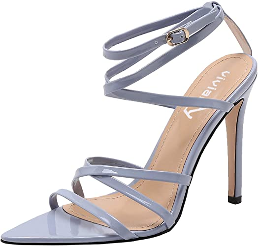 Amazon.com | vivianly Womens High Heels Pointy Open Toe Ankle .