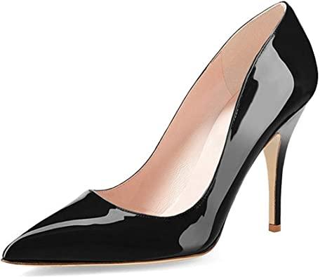 Amazon.com | YDN Women's Chic Pointed Toe Mid Heel Pumps Polka .
