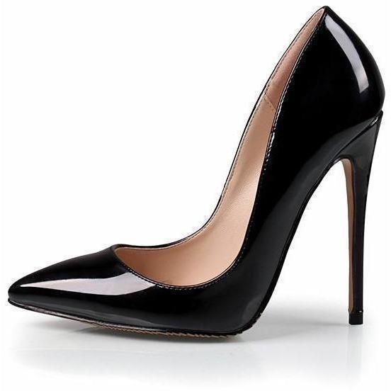 Woman High Heels Trendy Party Wedding Black Shoes Fashion .