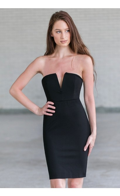 Strapless Black Dress – Fashion dress