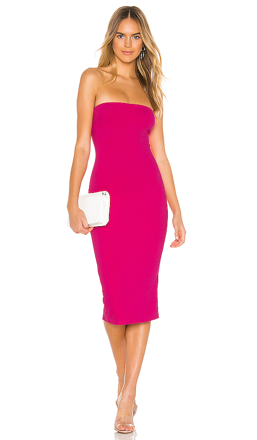 superdown Lilian Strapless Dress in Hot Pink | REVOL