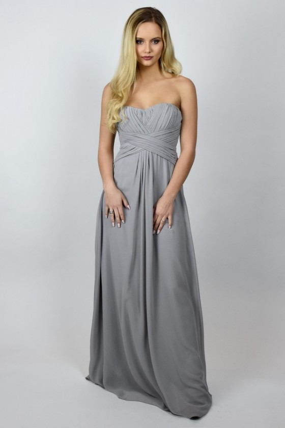 Grey Maxi Bridesmaid Dress | Cute Affordable Grey Bridesmaid Dress .