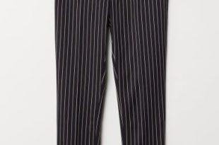 Skinny Fit Striped Pants - Dark blue/striped - Men | H&M