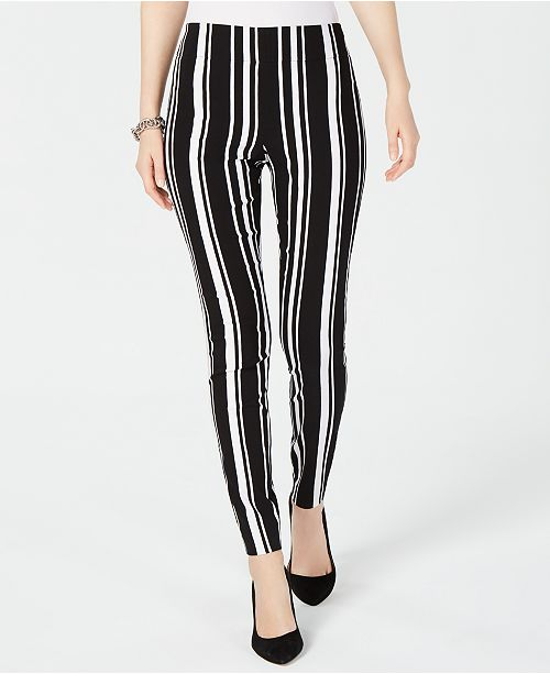INC International Concepts INC Pull-On Striped Skinny Pants .