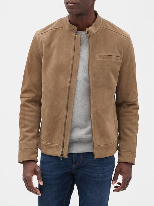 Suede Leather Jacket | Banana Republic Facto
