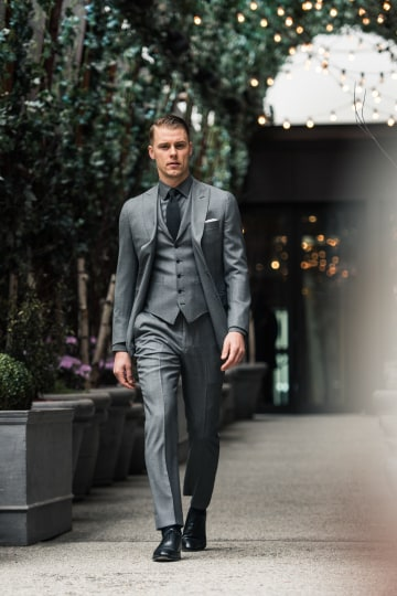 Essential Birdseye Suit in Mid Gray | Articles of Sty