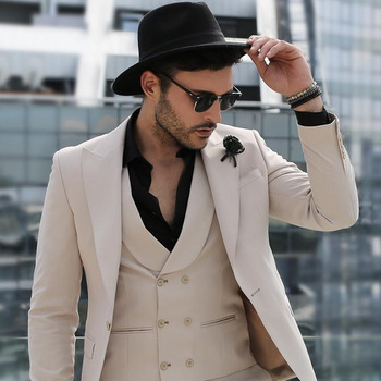Latest Design Beige Coat Pant Men Suit Style, View designer .