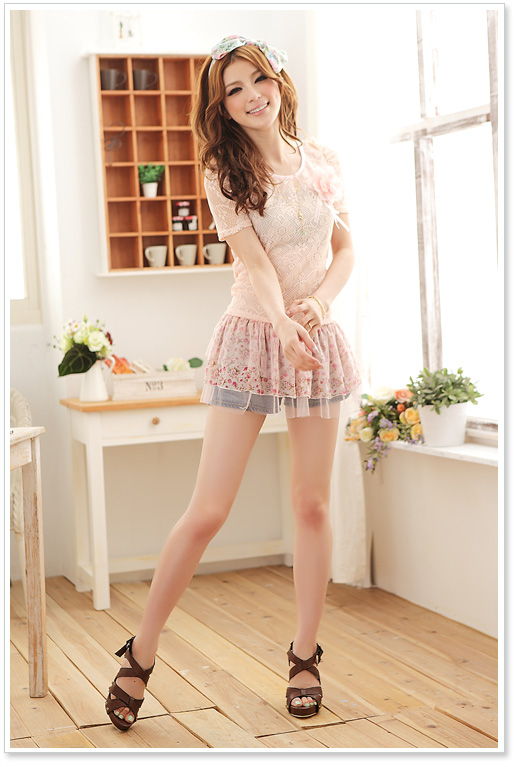 wholesale women clothes jk summer blouse k8325 Pink [k8325] $9.84 .