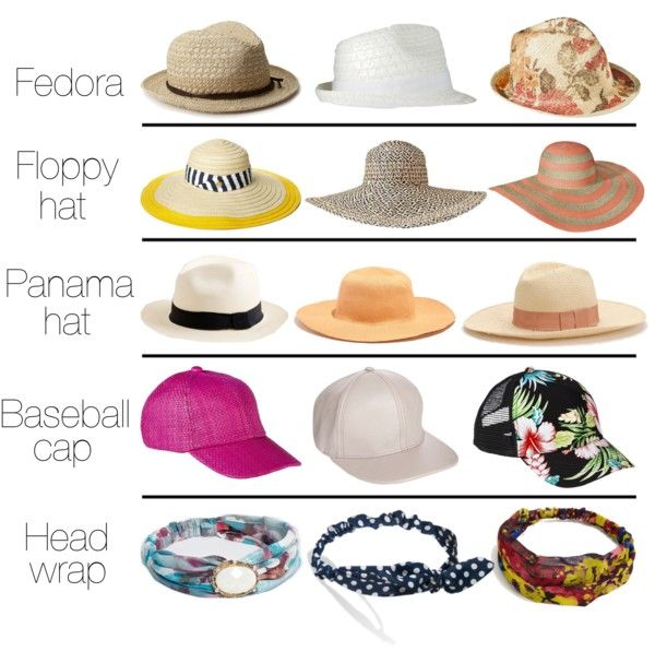 Summer hat styles! Just not the fedora. #summer #hats #fashion .
