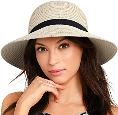 FURTALK Sun Hats for Women Brim Straw Hat Beach Hat UPF UV .