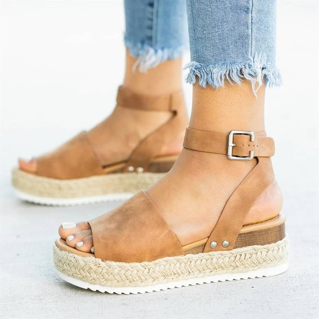 MoneRffi Wedges Shoes For Women Sandals Plus Size High Heels .