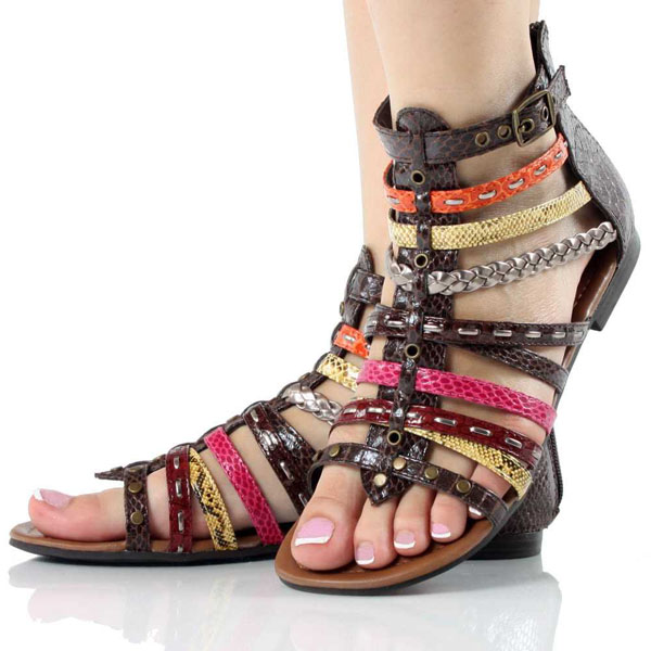 Fashion Style4Girls: Shoes Trend 2012 | Braided Sandals | Summer .