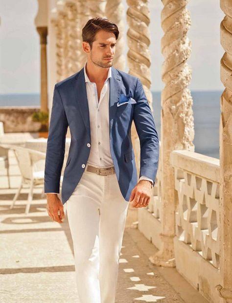 Tips for Men Summer Suits | Wedding suits men, Summer suits men .