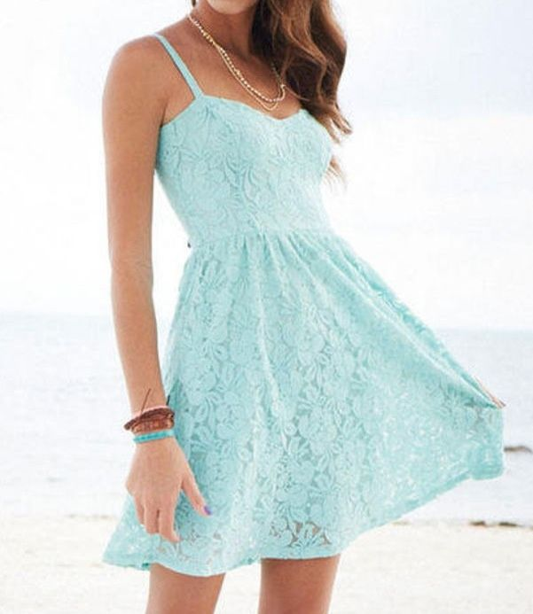 Cute Sundresses | Dresses, Blue summer dresses, Summer dress