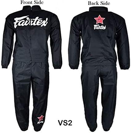 Amazon.com : Fairtex Sauna Suits Sweat Suits VS2 Green Black Red S .