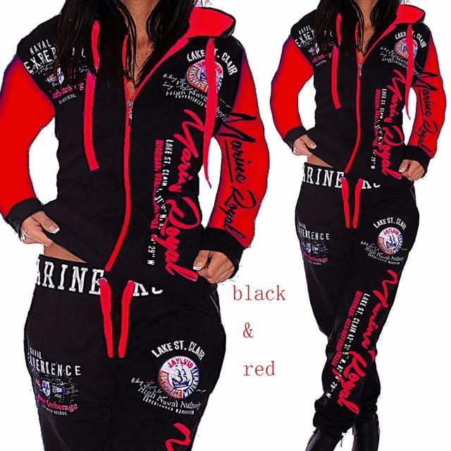 ZOGAA Brand Spring Tracksuit Two Piece Set Women Sweatsuits 2 .