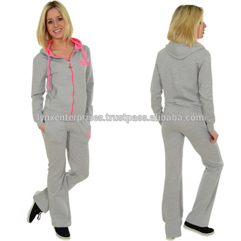 Women Sweat Suit / Ladies Sweat Suit / Contrasting Ladies Jogging .