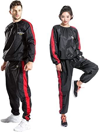 Amazon.com : DNRZY F.I.T Sweat Sauna Suits for Men Women Weight .