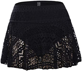 Amazon.com: JomeDesign Swim Skirts for Women Lace Crochet Skirted .