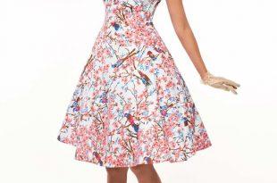 Cherry Blossoms 50s Tea Dress   Vintage Clothing Online - 1950s Gl