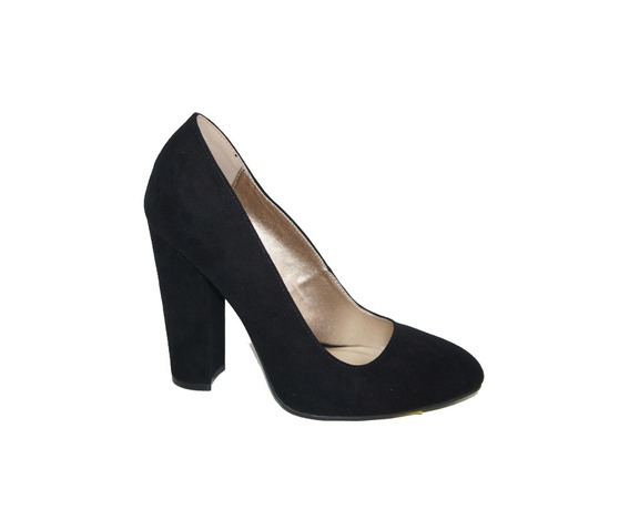 Black Pumps: Thick Heel Black Pum