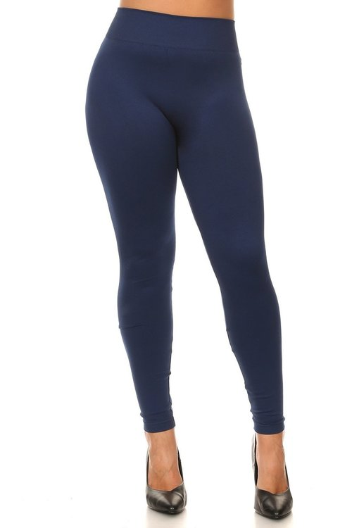 Extra Thick Solid Basic Plus Size Leggings | Only Leggin