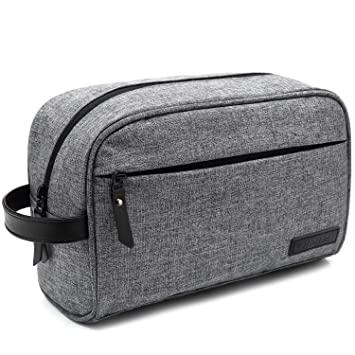 Amazon.com : Mens Toiletry Bag Dopp Kit Travel Bathroom Bag .