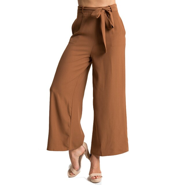 Fashion Trousers For Women Sashes Plus Size Elegant Women's Pants .