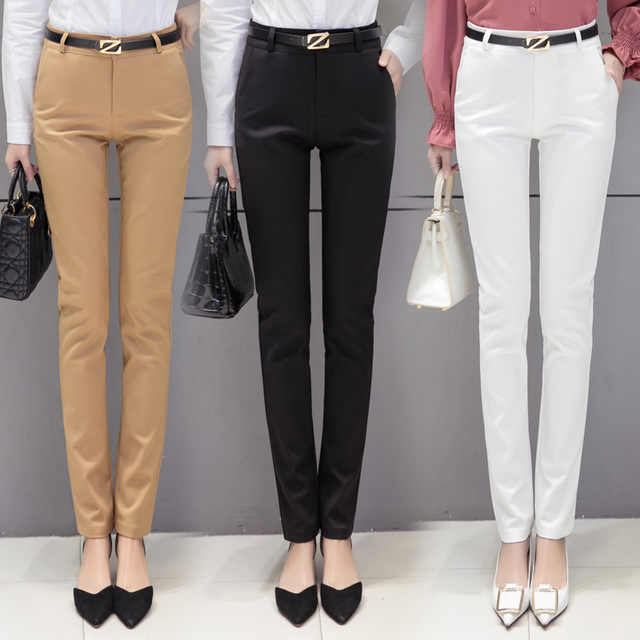 Lady Slim Fit Dress Pants For Women Formal Trousers Wear to work .