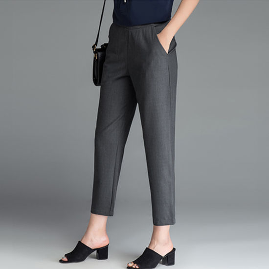 China New Simple Style Fashion Slim Fit Formal Pants for Women .