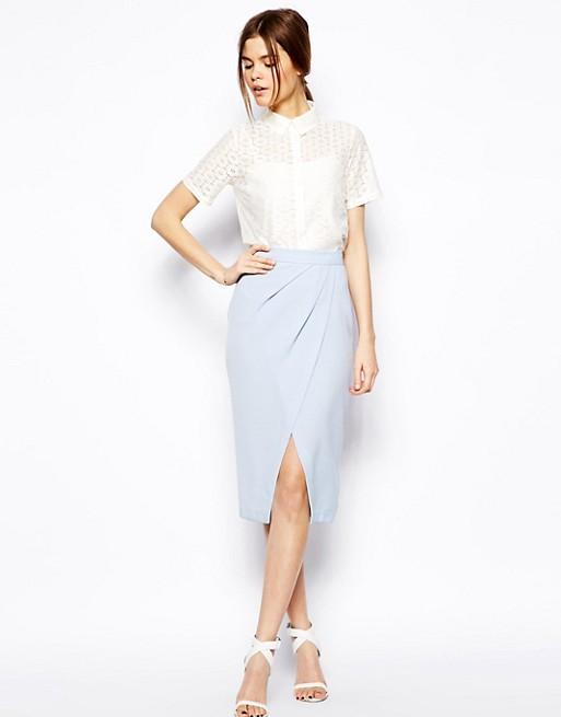 ASOS Drape Tulip Skirt in Crepe | AS