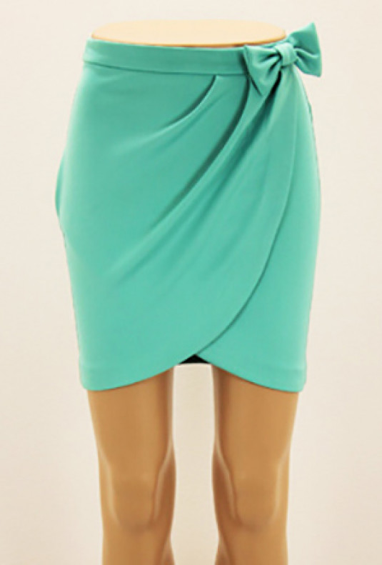 Skirt - Savvy Chic Bow Tulip Skirt in Mint | Sincerely Sweet Boutiq