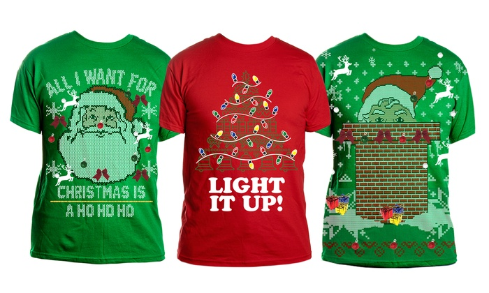 DIY Ugly Christmas T-Shirt Kit | Groupon Goo