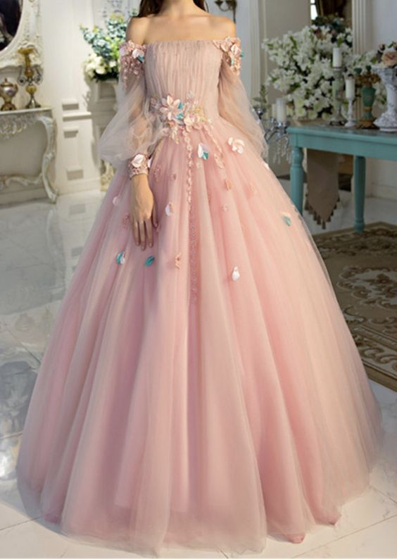 Off-the-shoulder wedding dress long sleeves Prom Dresses Unique .