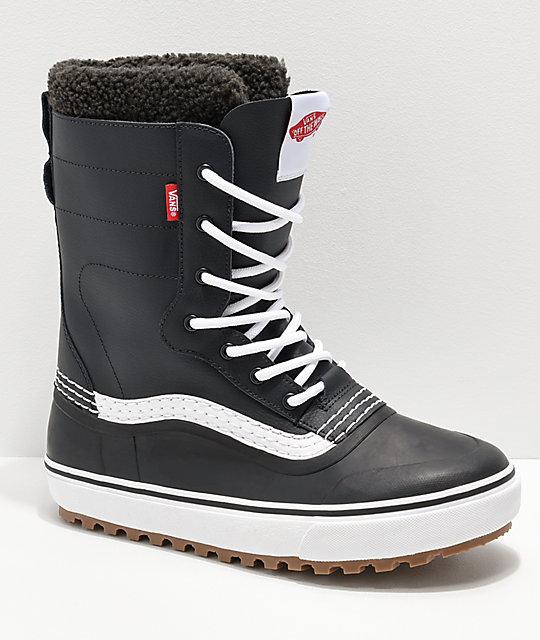 Vans Black & White Standard Snow Boots | Zumi