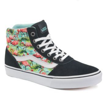Vans Milton Women's High-Top Flamingo Skate Shoes | Black high top .