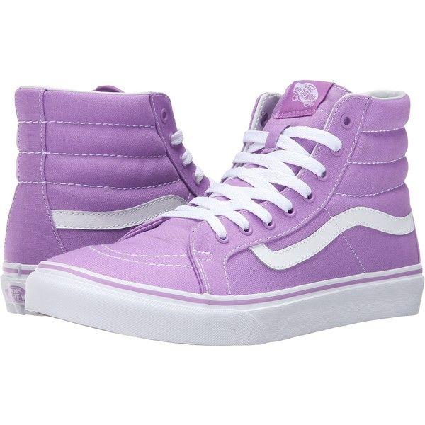 Vans SK8-Hi Slim (African Violet/True White) Skate Shoes ($33 .