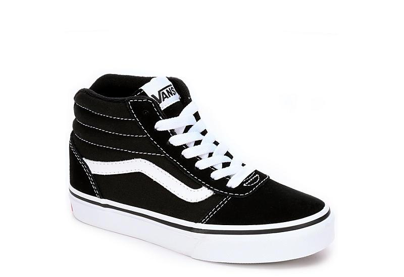 Black & White Vans Ward Boys' High Top Sneakers | Rack Room Sho