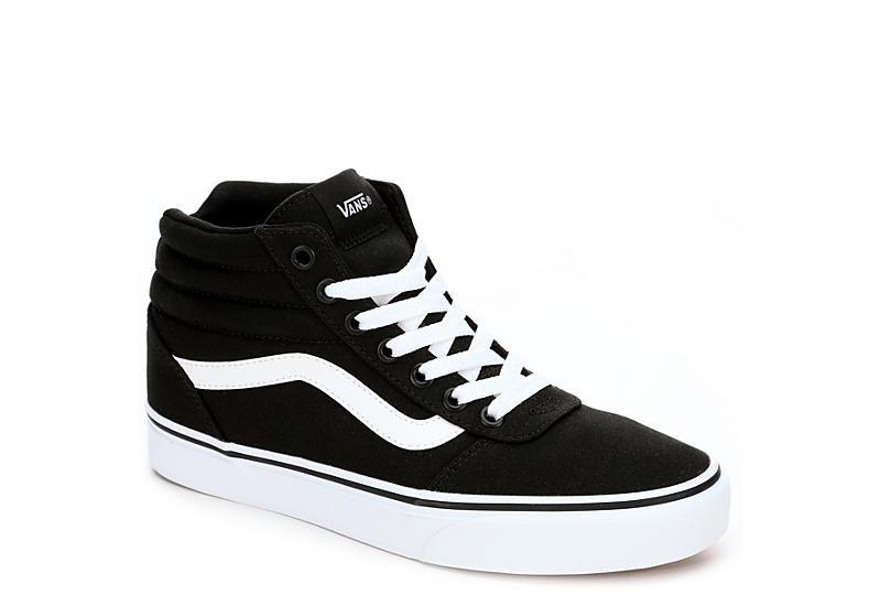 Black Vans Ward Women's High Top Sneakers | Rack Room Sho