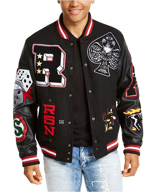 Reason Men's Spoiler Varsity Jacket & Reviews - Coats & Jackets .