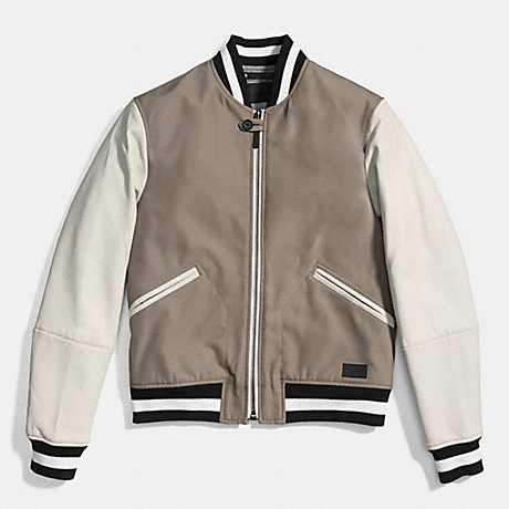 COACH F86139 - VARSITY JACKET - FOG/CHALK | COACH M