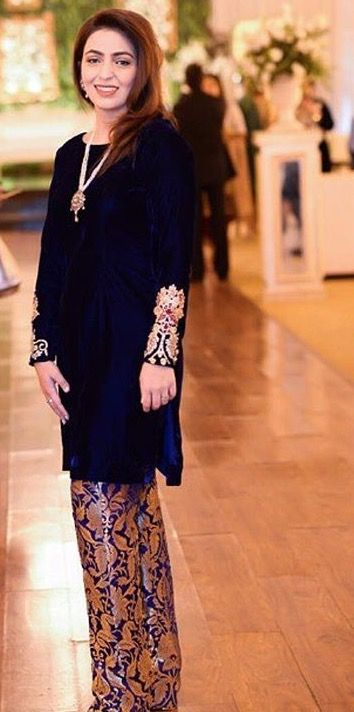 Formal wear | Velvet dress designs, Pakistani outfits, Trendy .