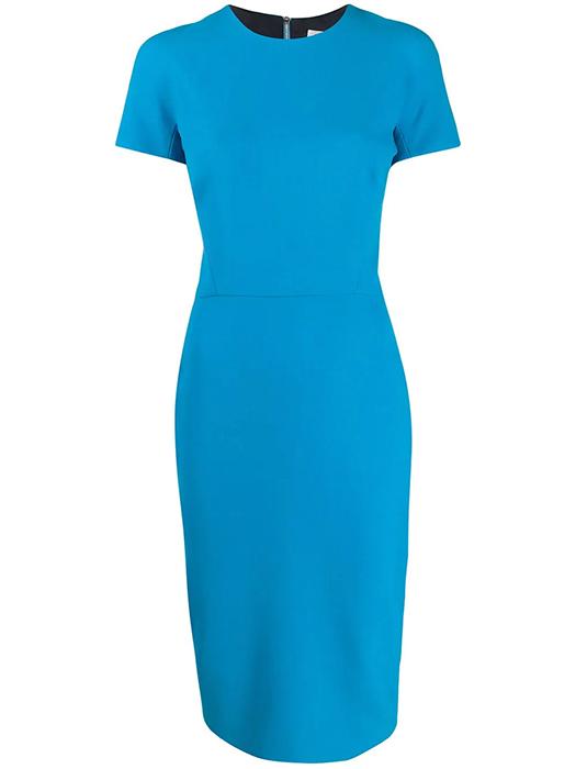 John Lewis' bargain dupe of Meghan Markle's blue Victoria Beckham .