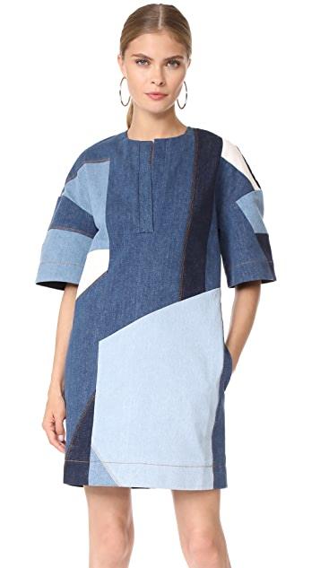 Victoria Victoria Beckham Patchwork Dress | SHOPB