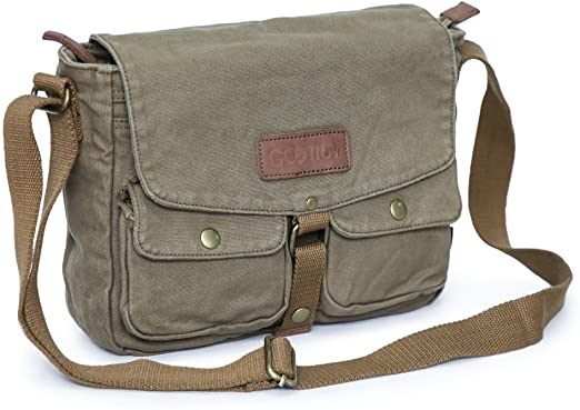 Amazon.com | Gootium Canvas Messenger Bag - Vintage Crossbody .