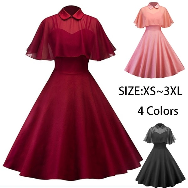 Vintage Dresses Women 50s 60s Retro Rockabilly Pinup Housewife .