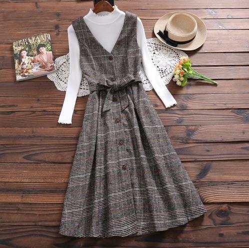 Mori Girl Winter Dress New Fashion Women Sleeveless Vest V Neck .
