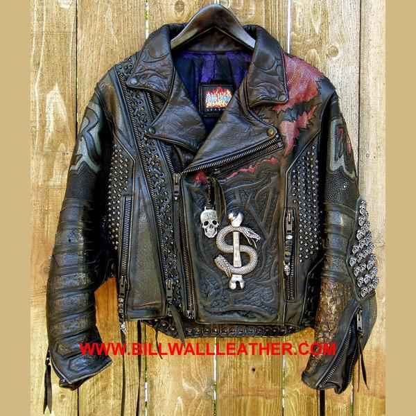 Vintage Motorcycle Jacket - Bill Wall Leather In