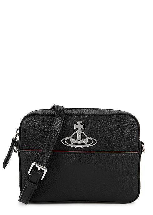 Vivienne Westwood Rachel black leather cross-body bag - Harvey Nicho