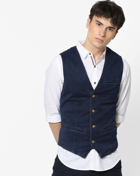 Buy Blue Blazers & Waistcoats for Men by UNITED COLORS OF BENETTON .